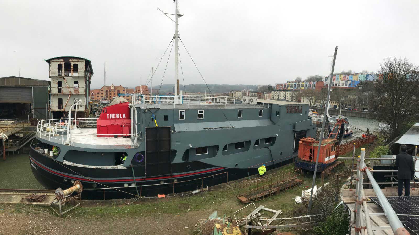 Thekla in Albion dockyard